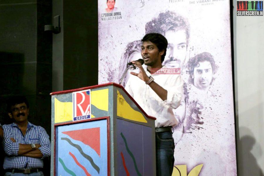 Director Atlee and Kalaipuli S Thani at Charles Shafiq Karthiga (CSK) Movie Audio Launch Photos