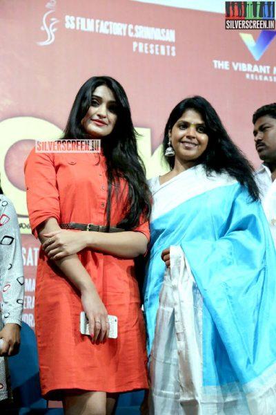 Actress Jai Quehaeni at Charles Shafiq Karthiga (CSK) Movie Audio Launch Photos
