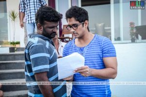 Enakkul Oruvan Working stills