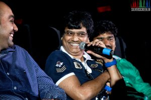 Producer Sanjay and Comedian Vivek at the Sathuranga Vettai Audio Launch