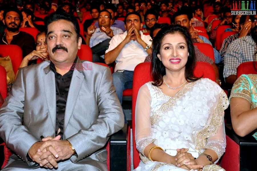 Kamal Haasan, Gouthami at the Uttama Villain Telugu Audio Launch Photos