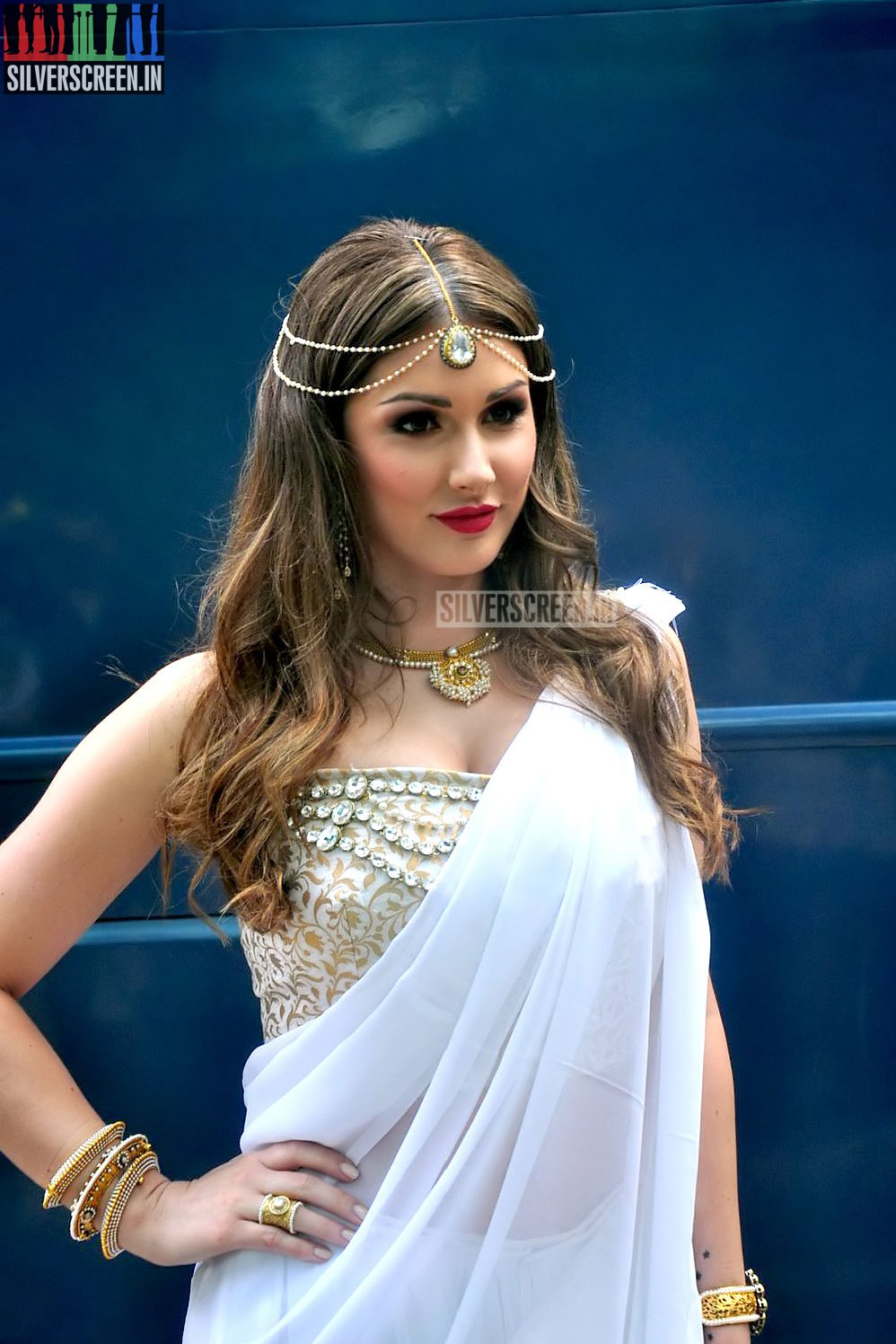 The News Review >> Lucy Pinder's Bollywood Movie – Warrior Savitri Launch Photos | Silverscreen.in