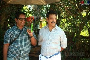 Actor Kamal Haasan and Director Jeethu Joseph in Papanasam Movie Stills
