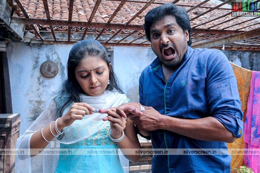 Mirchi Senthil and Sruthi Bala in Romba Nallavan Da Nee Movie Stills