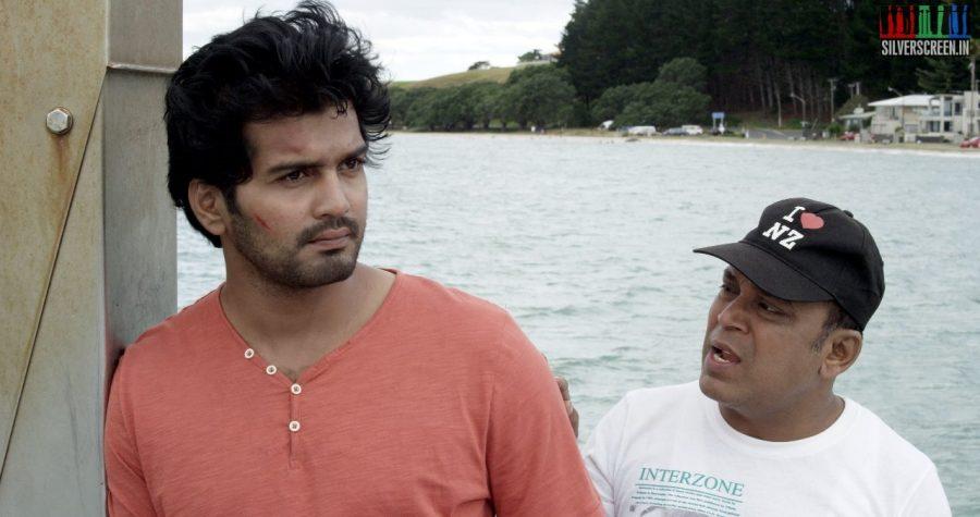 Actor Vinay Rai and Thambi Ramaiah in Serndhu Polama Movie Stills