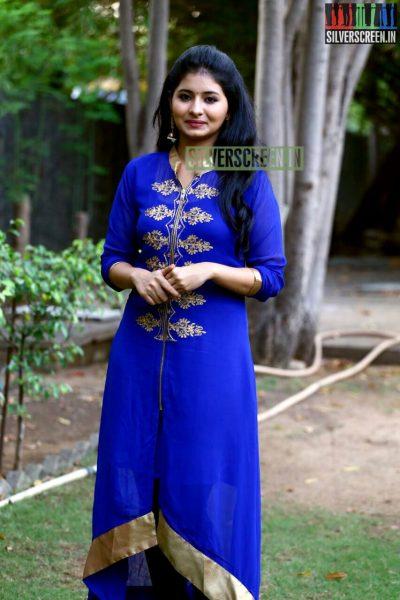 Actress Reshmi Menon at the Natpathigaram – 79 Movie Audio Launch Photos