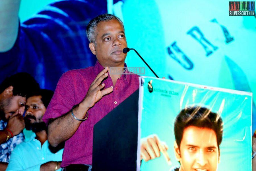 Gautham Menon at the Inimey Ippadithaan Audio Launch