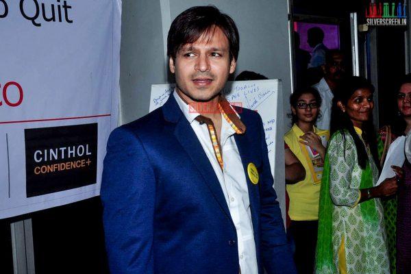 Raveena Tandon and Vivek Oberoi at Anti Cancer Event
