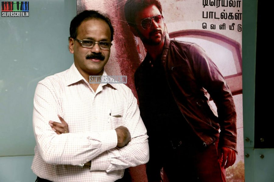 Producer G Dhananjayan at the Vaaimai Audio Launch Photos