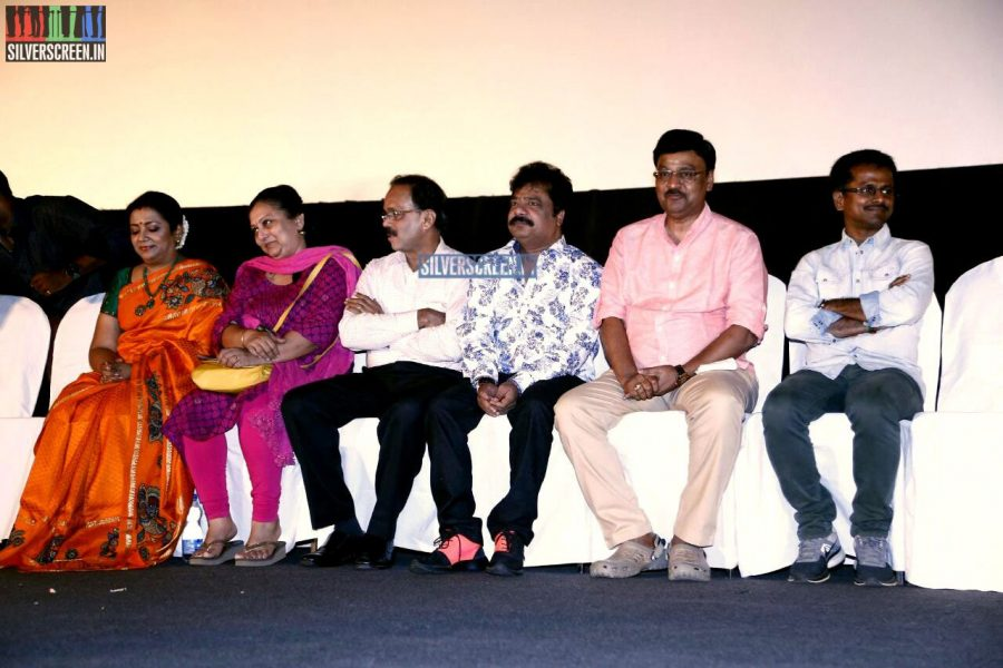 K Bhagyaraj at the Vaaimai Audio Launch Photos