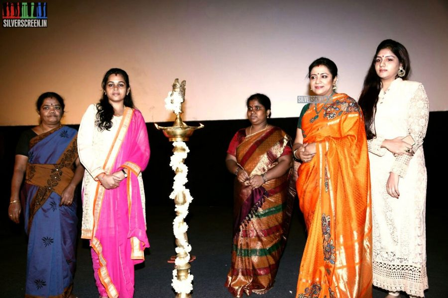 Poornima Bhagyaraj at the Vaaimai Audio Launch Photos