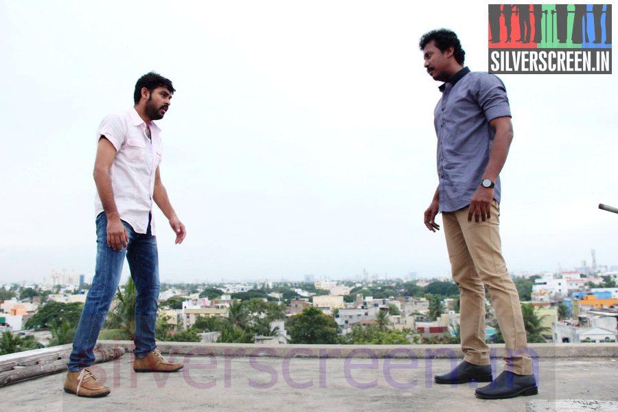 Actor Vimal and Director Samuthirakani in Nee Yellam Nalla Varuvada Movie Stills