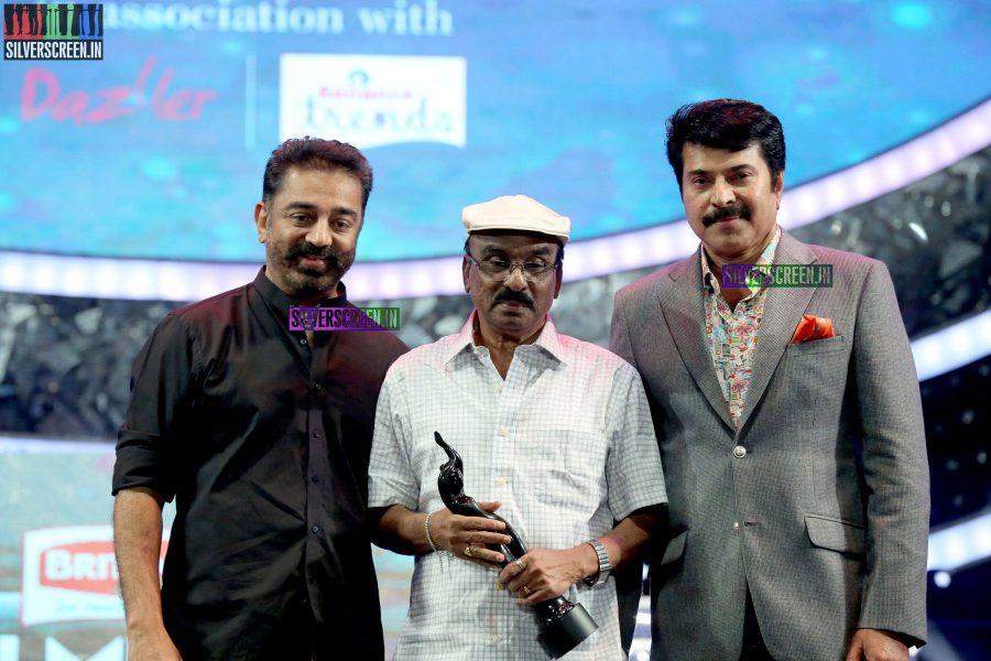 Kamal Haasan and Mammootty at the 62nd Filmfare Awards South Photos