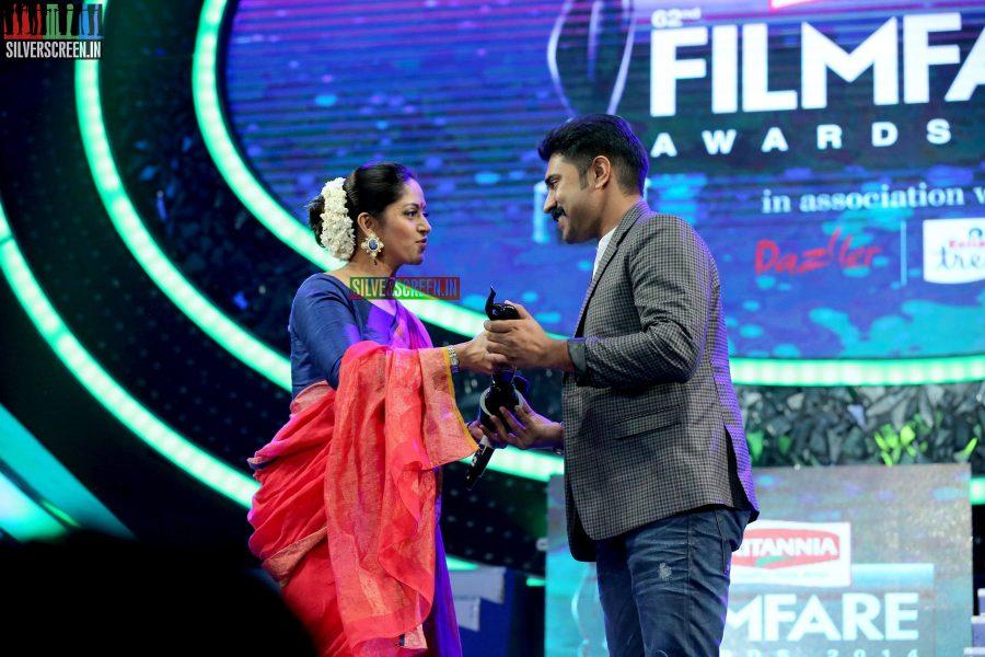 Nadiya and Nivin Pauly at the 62nd Filmfare Awards South Photos