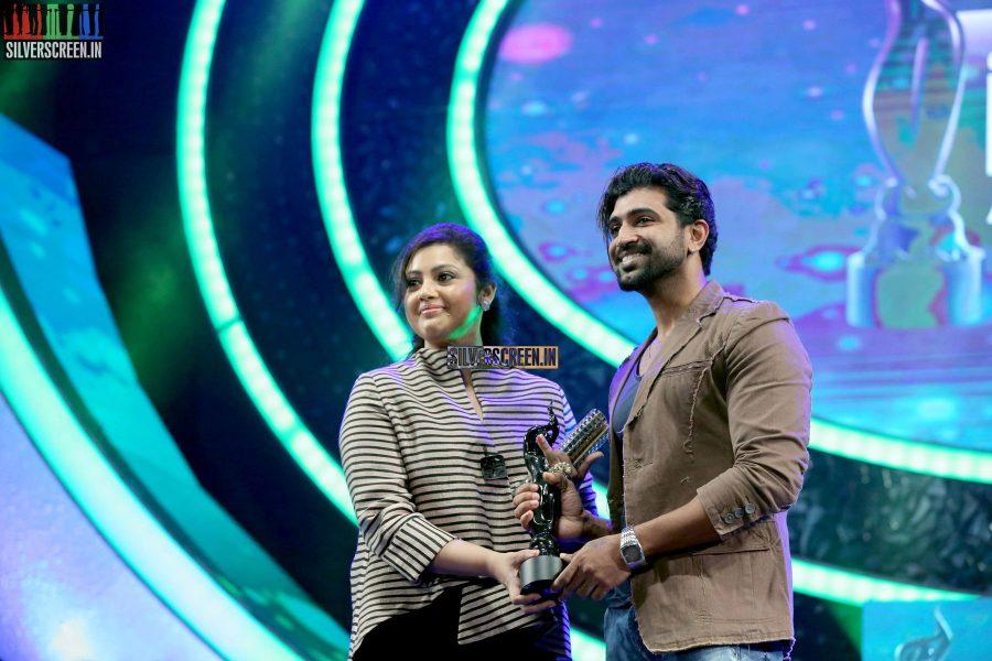 Meena and Arun Vijay at the 62nd Filmfare Awards South Photos