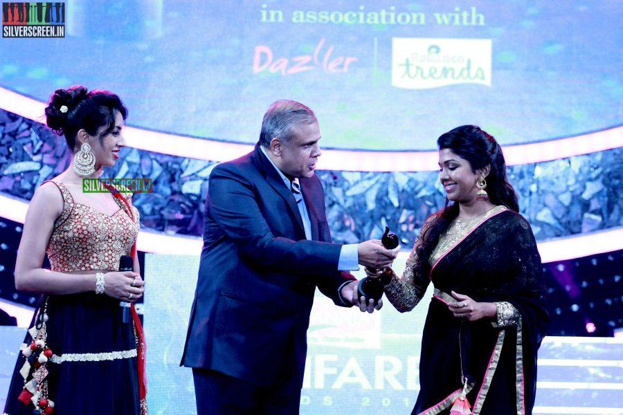 Sanjjanaa Galriani at the 62nd Filmfare Awards South Photos