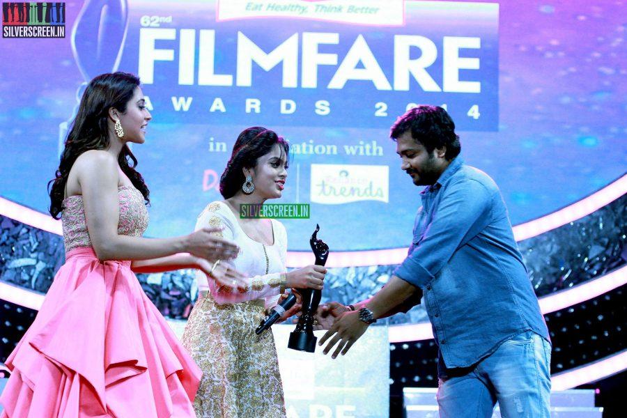 Nandita Swetha; Regina Cassandra and Bobby Simha at the 62nd Filmfare Awards South Photos