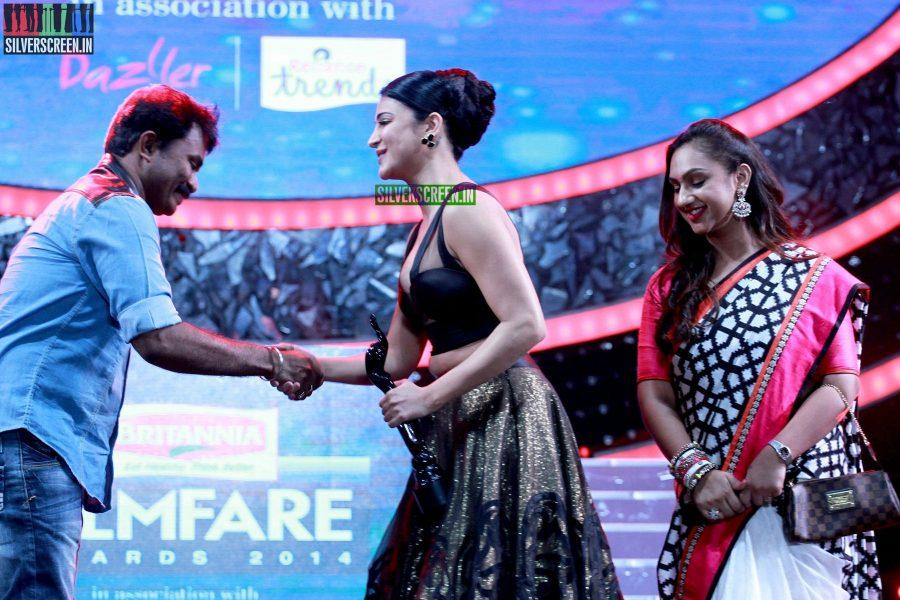 Shruti Haasan and Director Hari at the 62nd Filmfare Awards South Photos