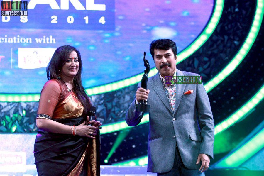 Mammootty and Sumalatha at the 62nd Filmfare Awards South Photos
