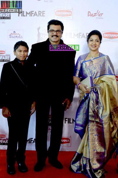 R Sarathkumar and Radhika Sarathkumar at the 62nd Filmfare Awards South Photos