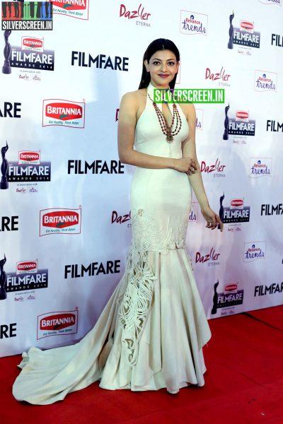 Kajal Aggarwal at the 62nd Filmfare Awards South Photos