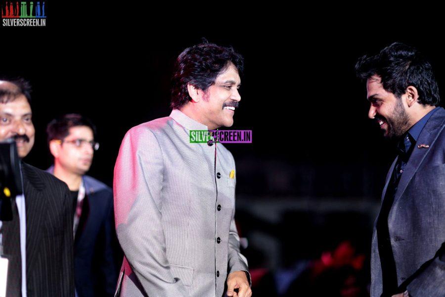 Karthi Sivakumar and Nagarjuna at the 62nd Filmfare Awards South Photos