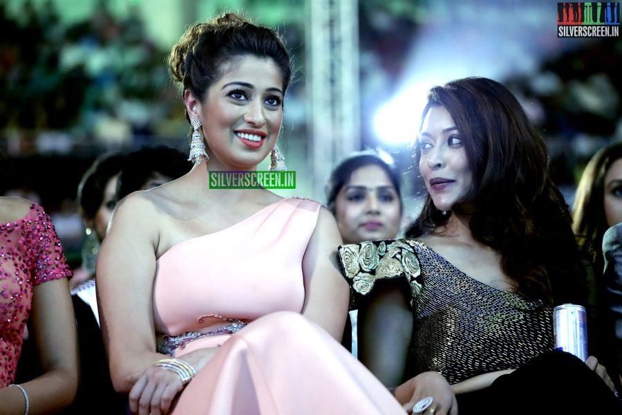 Payal Ghosh and Raai Laxmi at the 62nd Filmfare Awards South Photos
