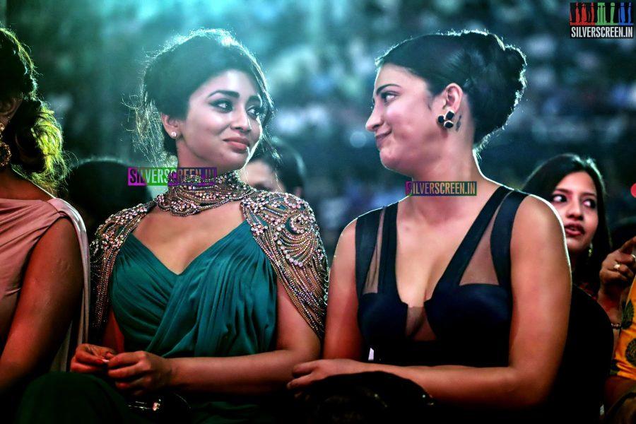 Shruti Haasan and Shriya Saran at the 62nd Filmfare Awards South Photos