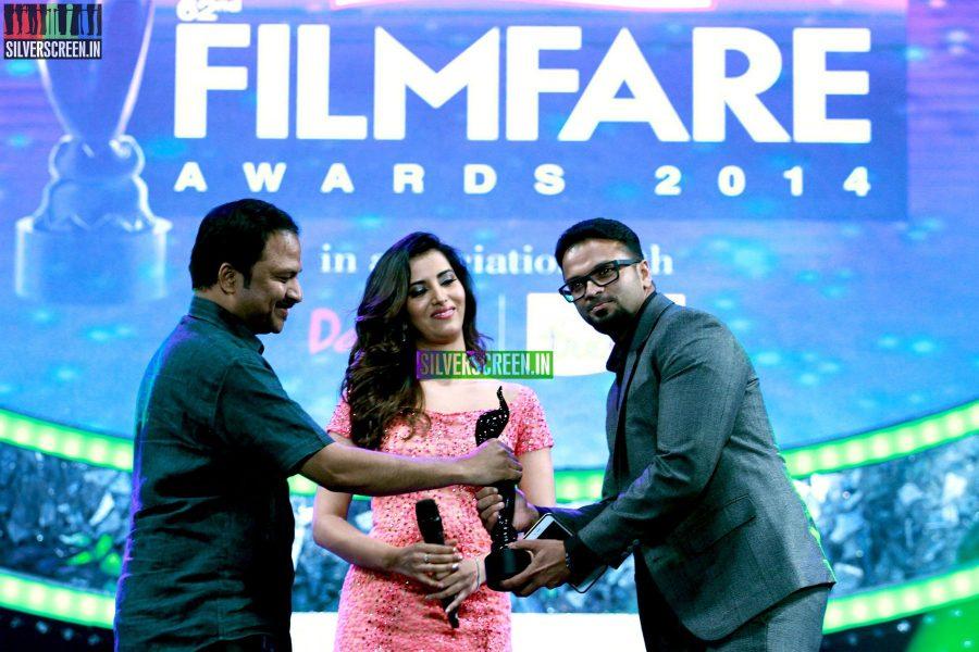 Jayasurya and Manasvi Mamgai at the 62nd Filmfare Awards South Photos