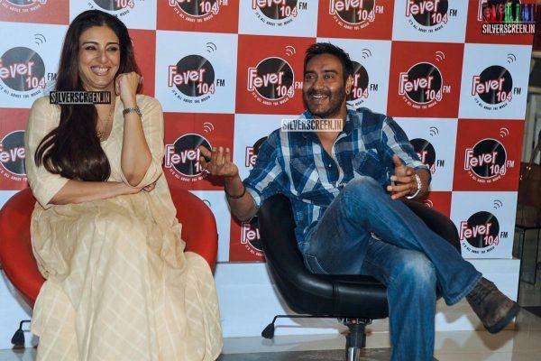 Ajay Devgan and Tabu Promoting Drishyam at Fever FM