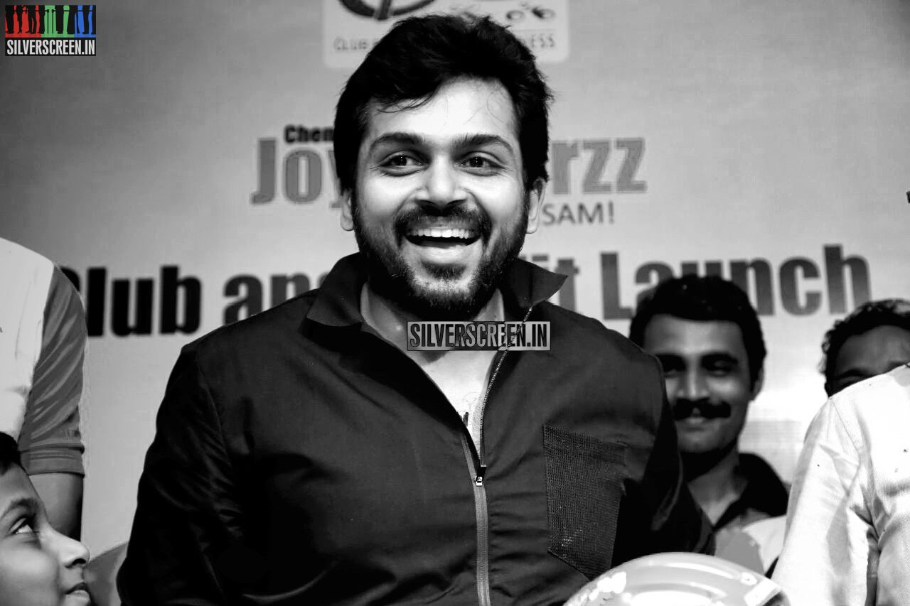 Karthi Sivakumar at Launch of CF Square Cycling Club and Team Jersey