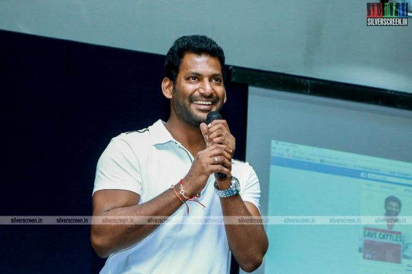 Vishal Launches Facebook page on Save Cattle Stop Killing Cows