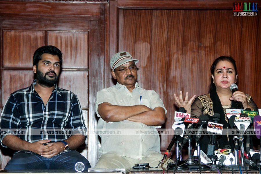 Radhika and Silambarasan - Nadigar Sangam Press Meet Photos