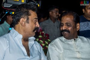 Kamal Haasan and Vairamuthu at Thoongaavanam Audio Launch