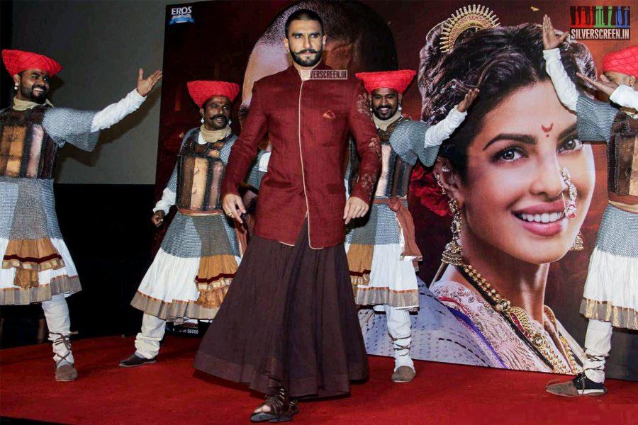 Priyanka Chopra and Ranveer Singh at The Bajirao Mastani Audio Launch