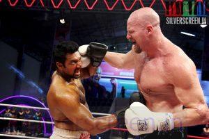 Actor Jayam Ravi and Nathan Jones (Wrestler) at Bhooloham Movie (Or Boologam) Stills