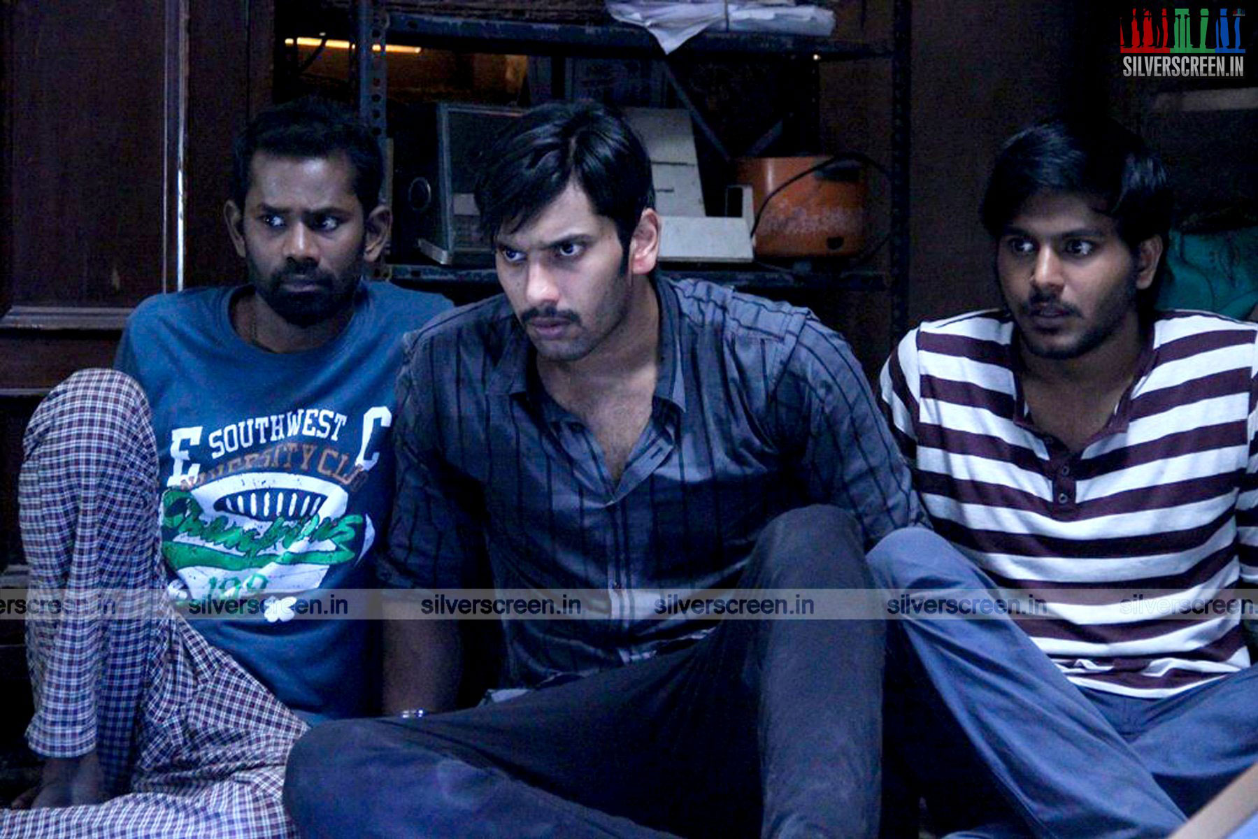 Actor Arulnithi and Ramesh Thilak in Demonte Colony Movie Stills