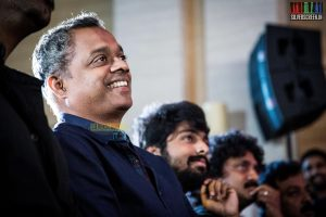 Director Gautham Vasudeva Menon at Idhu Enna Maayam Audio Launch