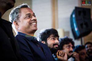 Director Gautham Vasudeva Menon at Idhu Enna Maayam Audio Launch