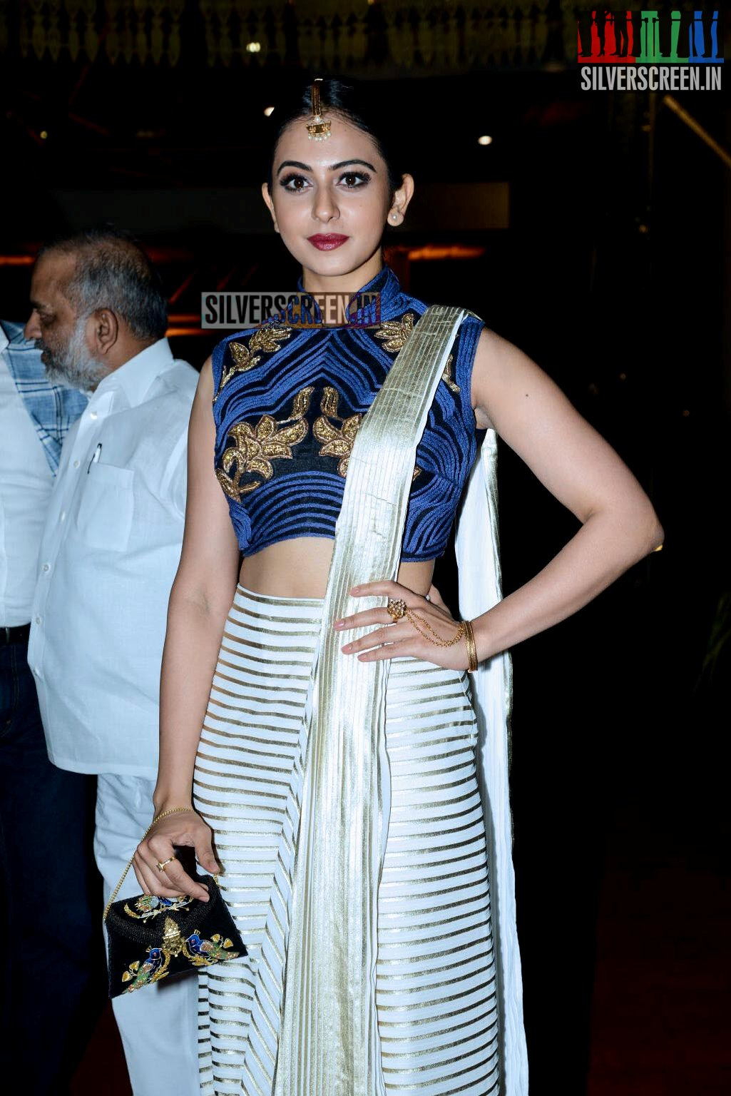 Rakul Preet Singh Attends The Half Saree Function Of Producer Pvp S