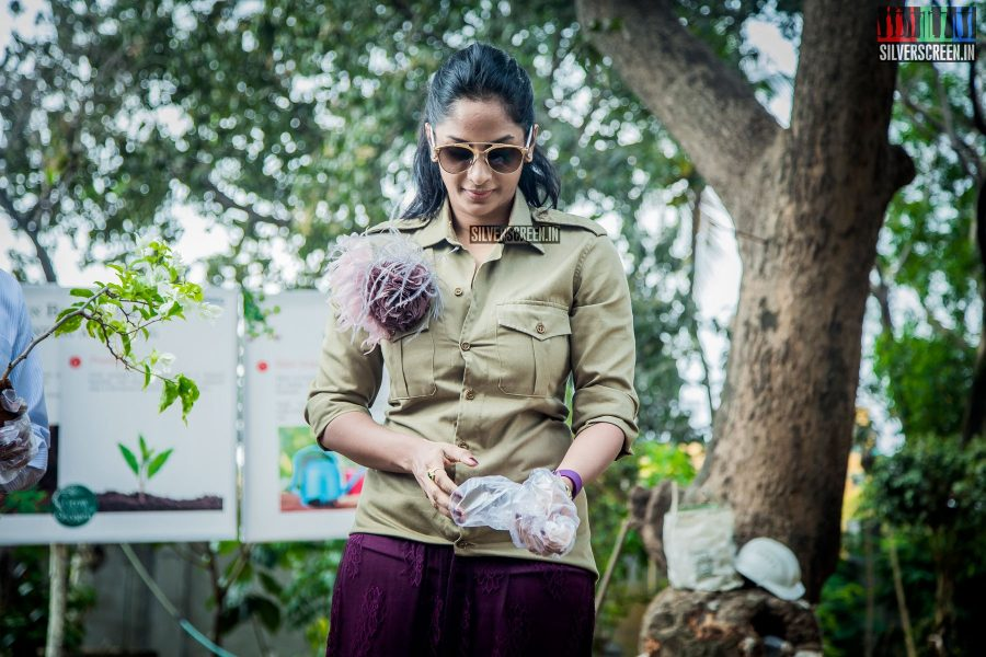 Sriya Reddy at the Osian chlorophyll's Grow Your Own Oxygen Campaign