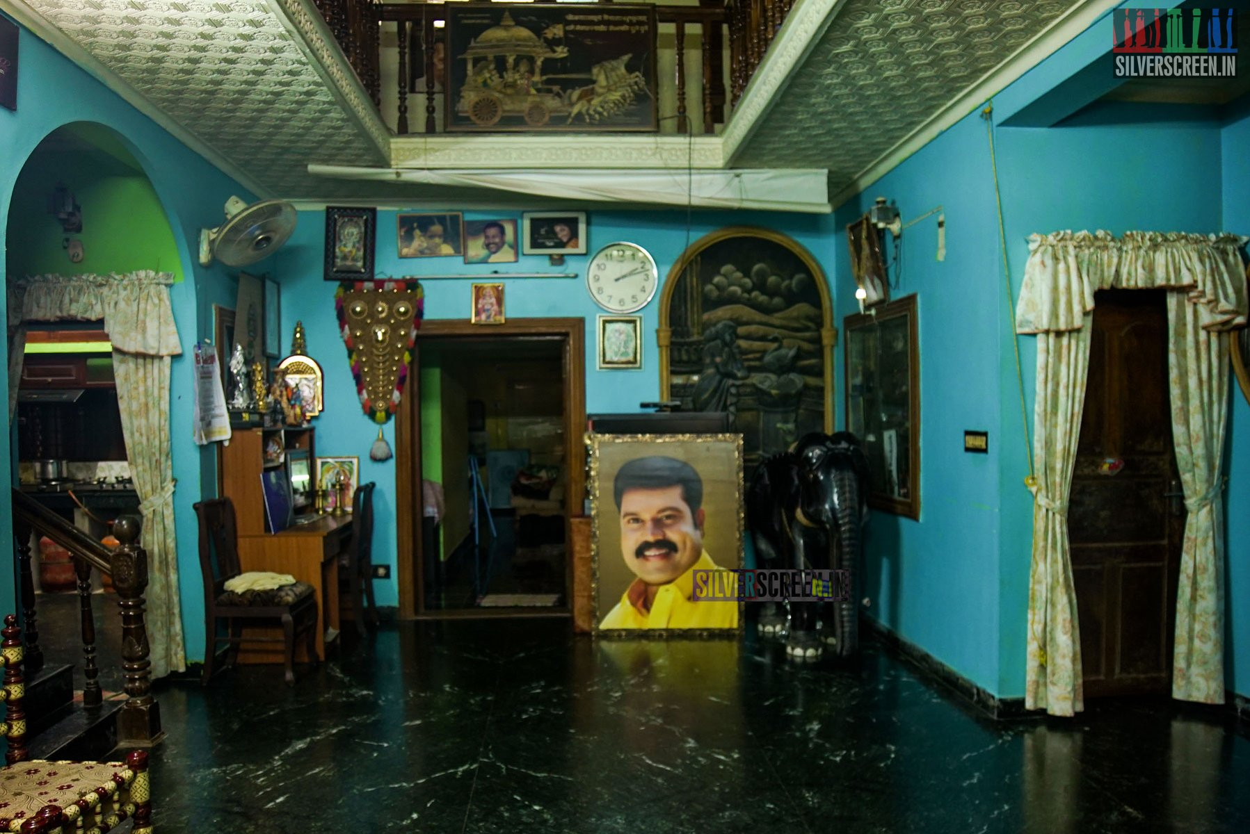 Portrait of Kalabhavan Mani in his house
