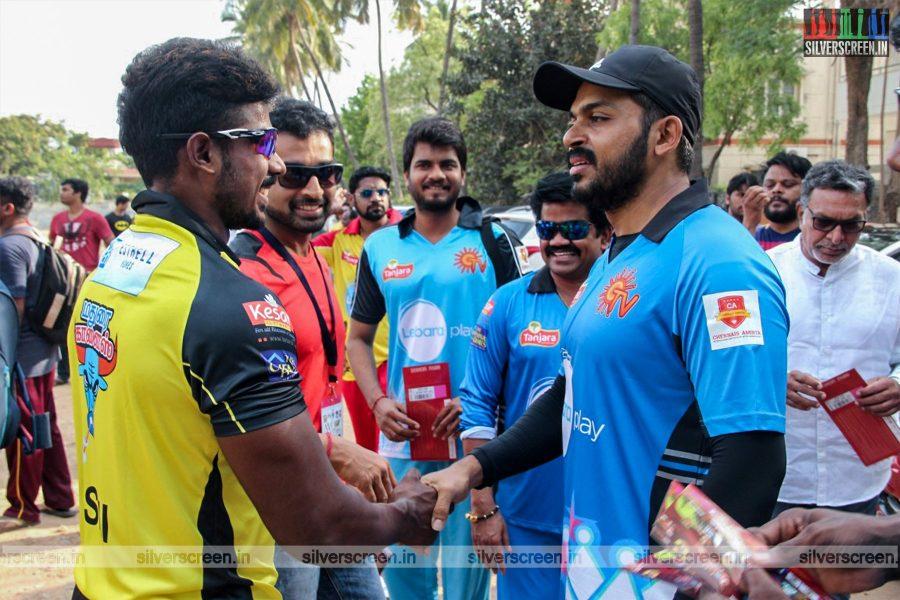 Celebrities at the Lebara's Natchathira Cricket