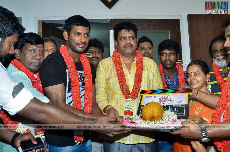 Kaththi Sandai Movie Launch Photos