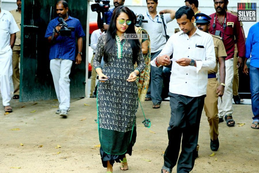 Celebrities Vote at Tamil Nadu Assembly Elections 2016