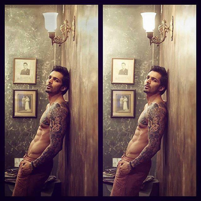 Harshavardhan Rane with his tattoos from Sanam Teri Kasam