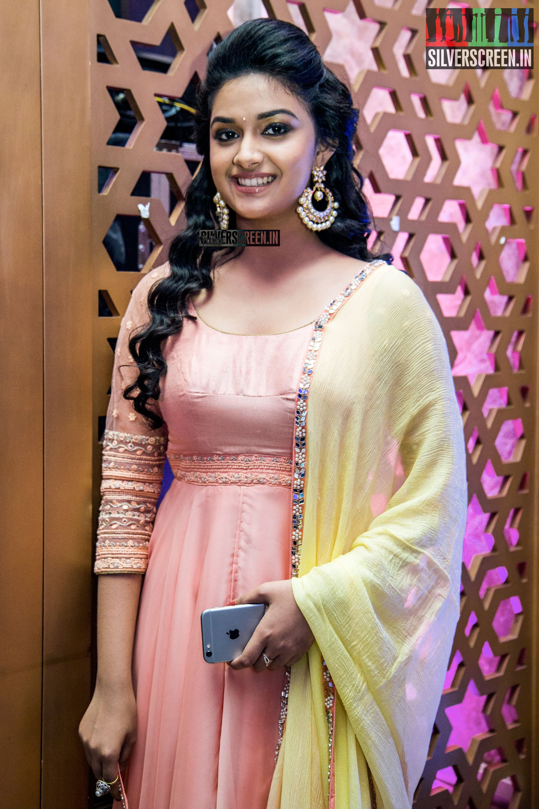 keerthy suresh at remo first look launch silverscreen in