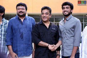 Actor Kamal Haasan, Kalidas, Jayaram at the Oru Pakka Kathai Movie Press Meet