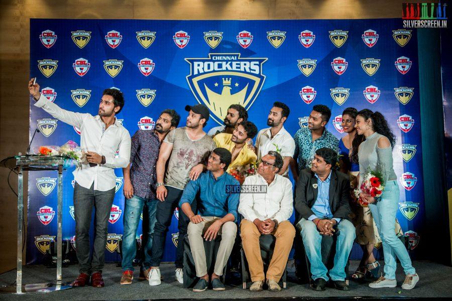 Celebrity Badminton League - Chennai Rockers Team Press Meet Photos