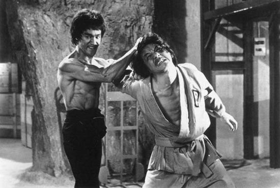 Jackie Chan (R) with Bruce Lee in Fist Of Fury Courtesy: acmi.net.au